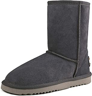 AUSLAND Women's Leather Winter Boot Classic Half Snow Boot