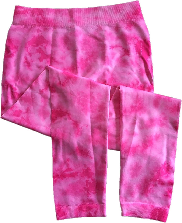 Sweetcakes Girl's Seamless Leggings, 1 Pair, M (10-12), Pink Tie Die