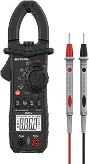 Meterk デジタルクランプメーター クランプメーター 6000カウント クランプテスター クランプメータ マルチメータ オートレンジ・バックライト AC ・DC電圧・ AC電流・ダイオード・ヘルツ・容量・抵抗・周波数・温度測定用 テスター