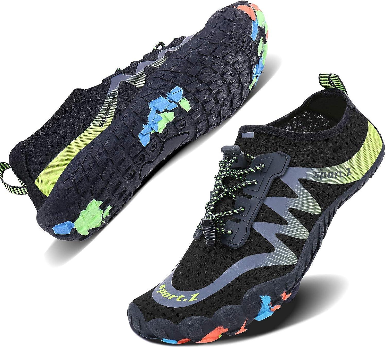 Wonesion Men Women Swim shoes Quick Dry Barefoot Aqua Water Socks for Water Park Yoga Running Outdoor Exercise