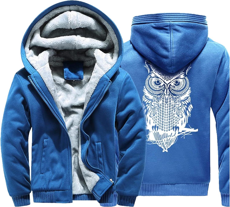Huangse Men's Zip Up Hoodie Heavyweight Winter Thick Sweatshirt Fleece Sherpa Lined Warm Jacket with Pockets