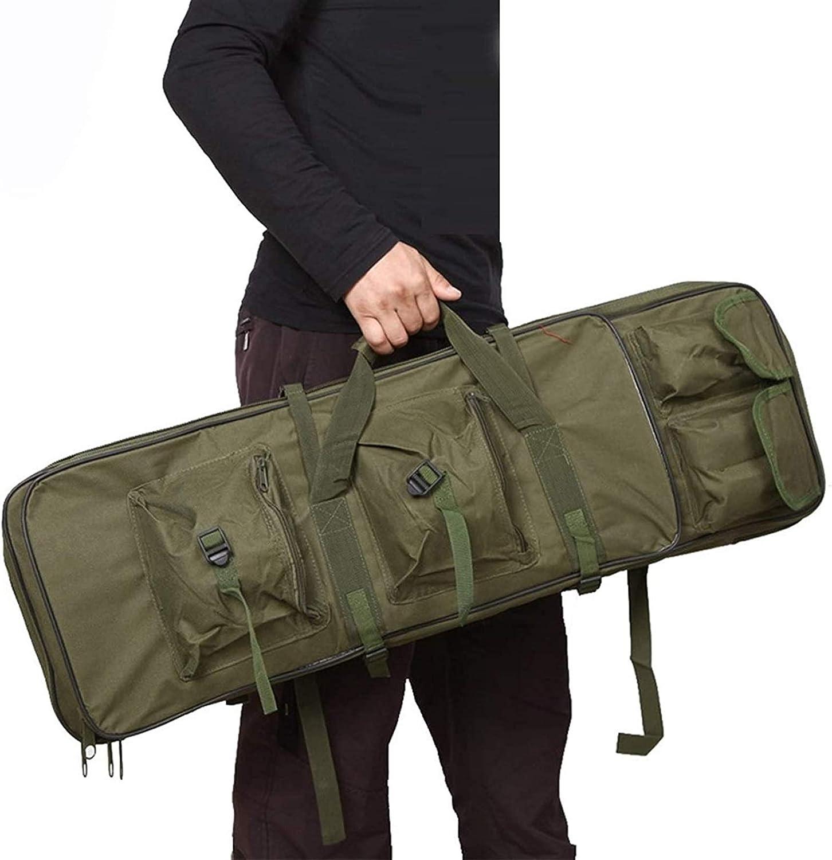 Bolsa de Escopeta Que acampa, Caja de Armas de Airsoft, Bolsa de Pistola Suave Impermeable con Liviana y portátil para almacenar Rifles Individuales (Color: Verde, tamaño: 100 cm / 39.4in), para el c