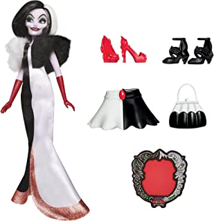 Disney Villains Cruella De Vil Fashion Doll, Accessories and Removable Clothes, Disney Villains Toy for Kids 5 Years Old a...