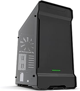 Phanteks PH-ES515ETG_BK Carcasa de Ordenador Midi-Tower Negro - Caja de Ordenador (Midi-Tower, PC, Aluminio, Acero, Negro, ATX,EATX,Micro ATX,Mini-ITX, Verde)