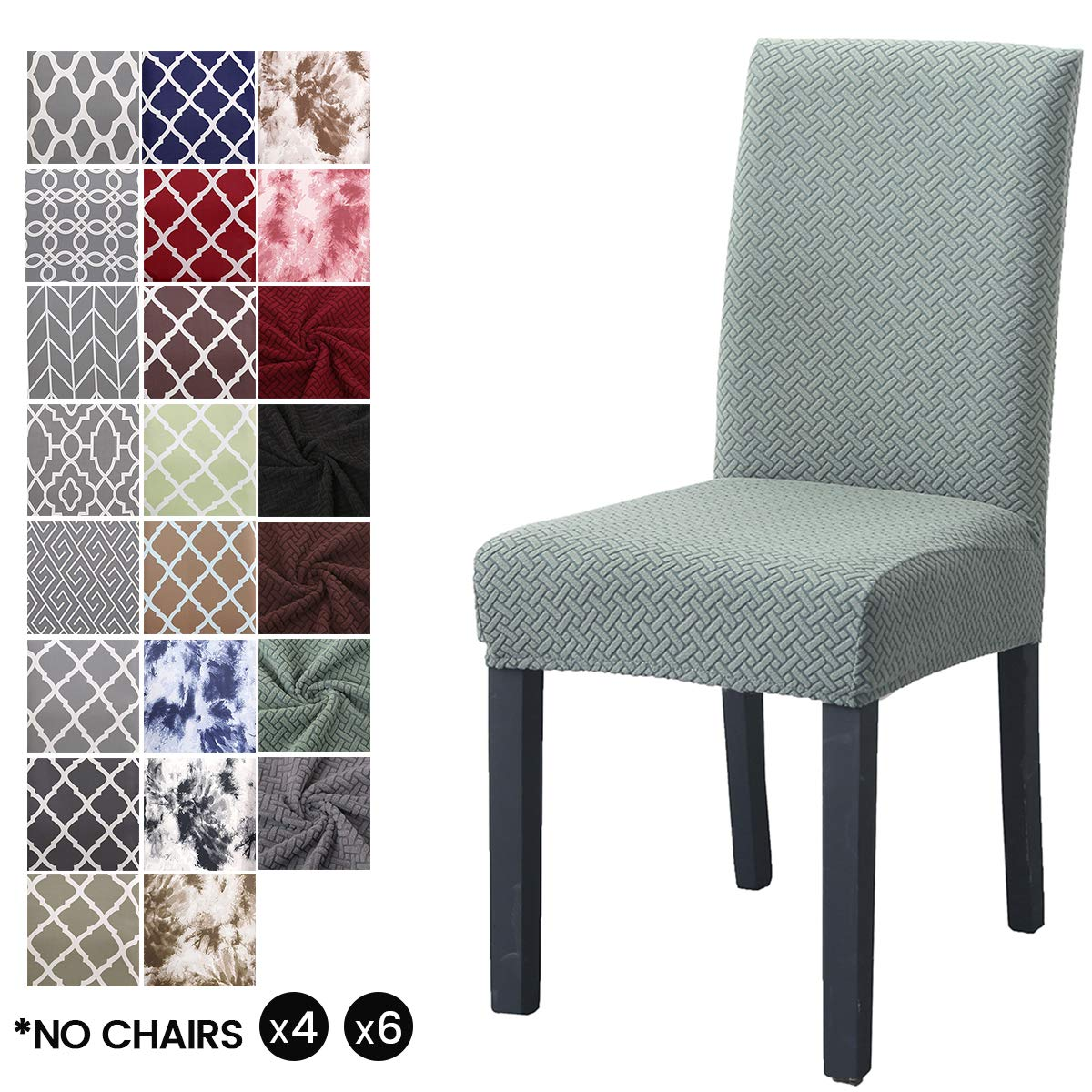 LiveGo Fundas para sillas de Comedor, elásticas y Modernas, extraíbles, Lavables, Cyan-Blue, Pack de 4: Amazon.es: Hogar