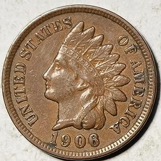 1906 U.S. Indian Head Cent Full LIBERTY Full Rim 1c Fine to XF