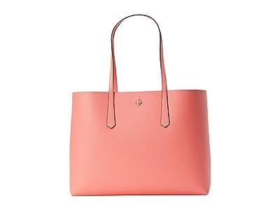 Kate Spade New York Molly Grand Daisy Pop Large Tote (Lychee) Handbags