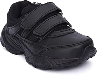 Campus Black School Shoes | Unisex | 3-7 Year Old Kid| Durable