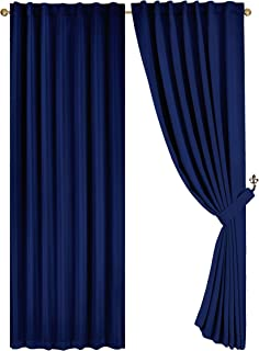 Amazon Com Thermal Lined Curtains Rod Pocket Panels Curtains Drapes Home Kitchen