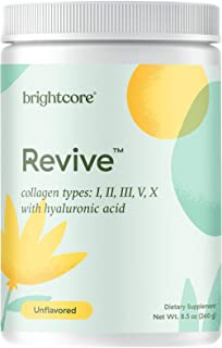Brightcore Revive Multi Collagen Protein w/Hyaluronic Acid & Vitamin C, 30 Servings