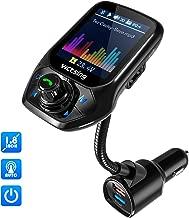 "【Detecta Frecuencia Libre de Forma Automática】Transmisor FM Bluetooth Coche Manos Libres VicTsing, Transmisor Bluetooth Coche Mechero Ahorra 50% de Tiempo,1.8"" Pantalla, 3 Puertos USB QC3.0 5 EQ Modos"