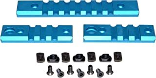 Sniper Grunt 3-Piece Picatinny Rail Section Kit for M-LOK Mount, Blue Anodized, (2) 3 Slot Section and (1) 7 Slot Section
