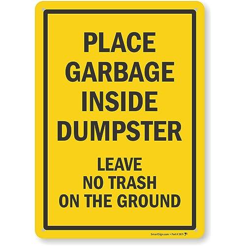 Trash Signs: Amazon com