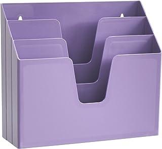 Acrimet Horizontal Triple File Folder Organizer (Purple Color)