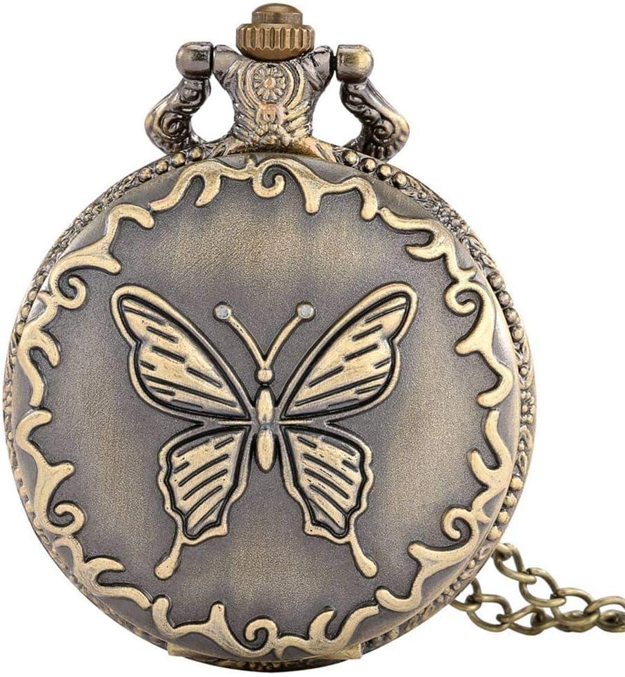 GANFANREN Price reduction Exquisite Bronze Butterfly Quartz Necklace Watch discount Pocke