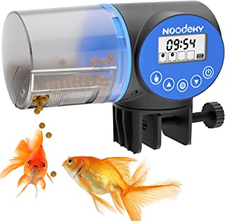 Sponsored Ad - Noodoky Automatic Fish Feeder, Moisture-Proof Electric Auto Fish Food Feeder Timer Dispenser for Aquarium o...