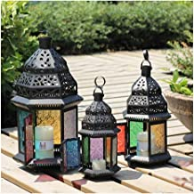 Candle Holders Antique Iron Lantern House Candlestick Crystal Candle Holders