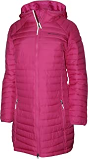 Columbia Youth Girls White Out Mid Omni Heat Long Hooded Jacket Coat Puffer
