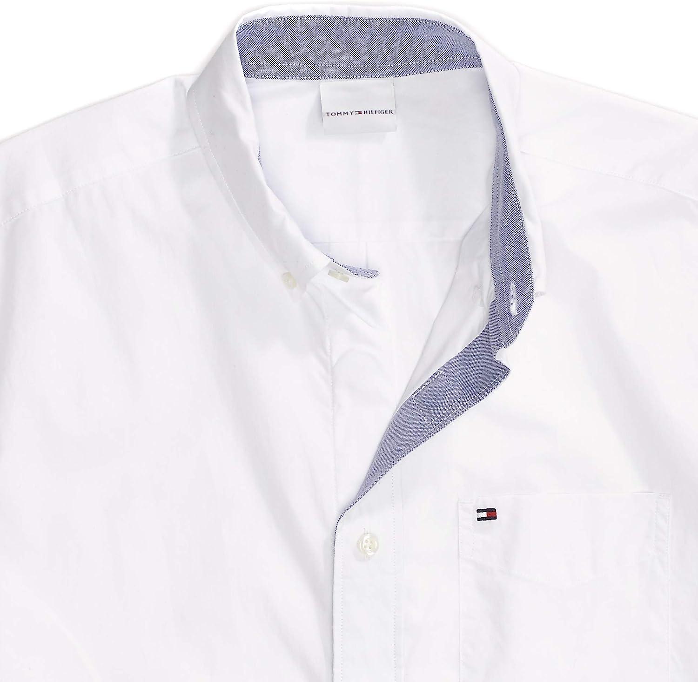 Tommy Hilfiger Men's Adaptive Magnetic Short Sleeve Button Shirt Slim Fit
