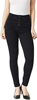 Miss Chase Women's Black High Rise Stretchable Denim Jeans