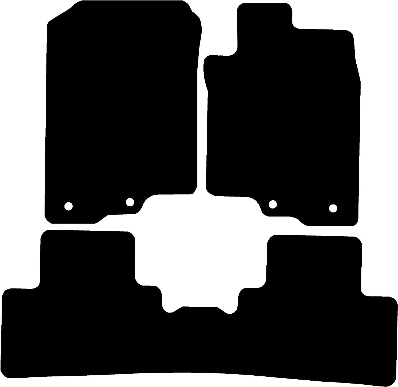 Connected Essentials CEM300 Car Mat Set Black with Black Trim 3mm Rubber