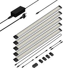 parlat LED-onderkastverlichting Siris, aanrakingsdimmer, vlak, elk 50 cm, 500lm, warm-wit, set van 5