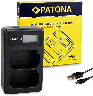 PATONA Podwójna ładowarka USB LCD odpowiednia do baterii Sony NP-FZ100 kompatybilna z Sony Alpha 9, 7RM3, 7M3, A7 R III, B...
