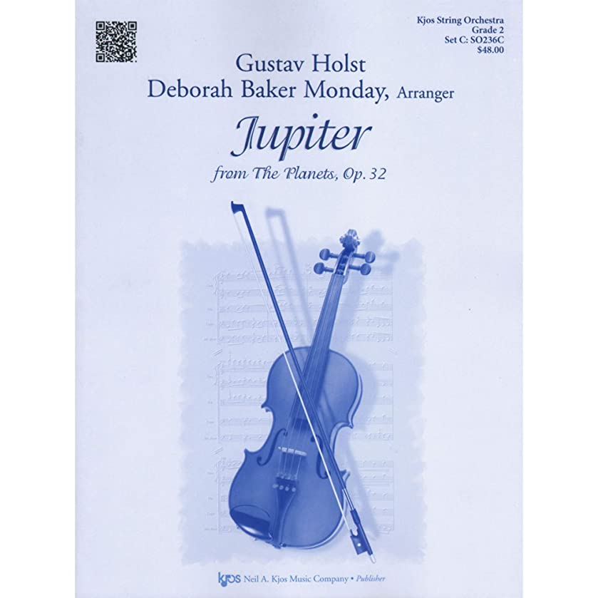 Holst, Gustav - Jupiter from The Planets, Op. 32 - String Orchestra - Score and Parts