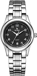 JEDIR Men Classic Simple Slim Quartz Wrist Watch Big Dial Calendar Number Mesh&Leather Band