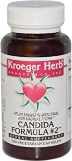 Kroeger Herb Co, Candida Formula #2, 100 Veggie Caps