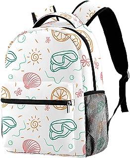 حقيبة ظهر خفيفة الوزن حقيبة مدرسية للكلية حقيبة كمبيوتر محمول Daypack للبالغين والأطفال حقيبة ظهر عادية كلمات حيوانات خربش