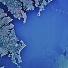 Posterazzi Satellite view of Chesapeake Bay and Annapolis Maryland 1982 Poster Print (27 x 27)
