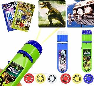 Zaklamp Kinderen, kinderen Projector Zaklamp Kleine diavoorstelling Dinosaurussen + ruimte, voor kind Good Night Story Bea...