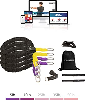 Iron Neck Fitness Bundles – Resistance Bands, Grip Handles, Door Belts and Anchors - Ideal Shoulder Band System for Rehab and Strength Training
