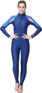 DIVE&SAIL Women Full Body Westuit UPF 50+ UV Protection Rash Guard Quick Dry Swimsuit