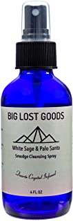 Big Lost Goods White Sage & Palo Santo Smudge Spray. Use for smokeless smudging, Energy Cleansing, and Protection. 4 oz Bo...