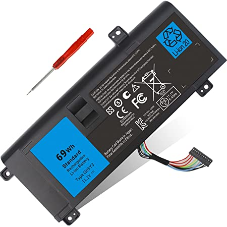 69WH Type G05YJ Battery Replacement for Dell Alienware 14 A14 M14X R3 M14X R4 M14X R1 14D-1528 14D-1528 ALW14D-1528 ALW14D-5528, Fits 8X70T Y3PN0 0G05YJ