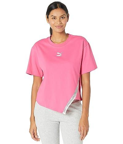 PUMA T7 Fashion Tee (Luminous Pink) Women