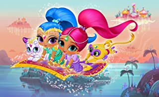 SDore Shimmer and Shine Edible Happy Birthday Cake Topper Frosting 1/4 Sheet