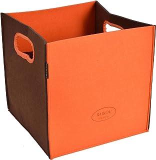RAIKOU Boîtes de Rangement Ouvertes,Cube,Carré,Boîte de Rangement Pliable en Feutre,Boîtes Tiroirs avec Poignée,pour Linge...