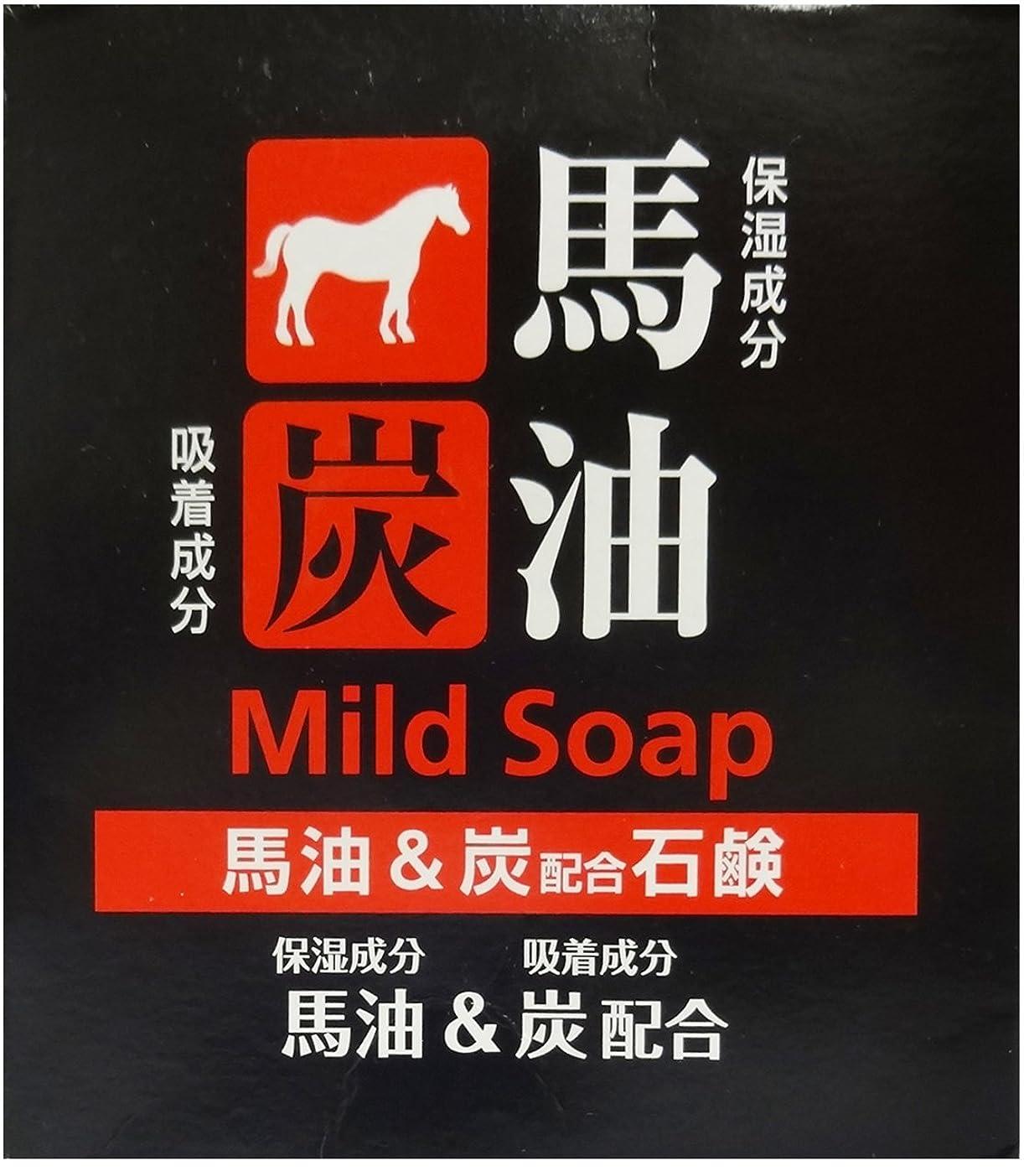 ご覧ください考慮ステレオタイプTKコーポレーション 馬油&炭配合石鹸 100g