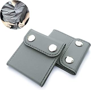 ILIVABLE Seatbelt Adjuster, Comfort Universal Auto Shoulder Neck Strap Positioner Clips, Vehicle Seat Belt Covers (2 Pack, Grey)