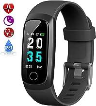 HETP Montre Connectée Tension Arterielle, Bracelet Connecté Podomètre Femme Homme étanche IP67 Montre Cardiofréquencemètre GPS Sport Smartwatch pour iPhone Samsung Huawei Android iOS Smartphone