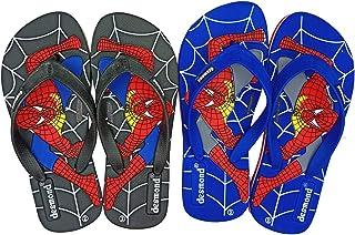 Desmond Spidermens EVA Kids Flip Flop Slipper Boys & Girls Combo (4 Years to 13 Years) (Set of 2 Pairs)