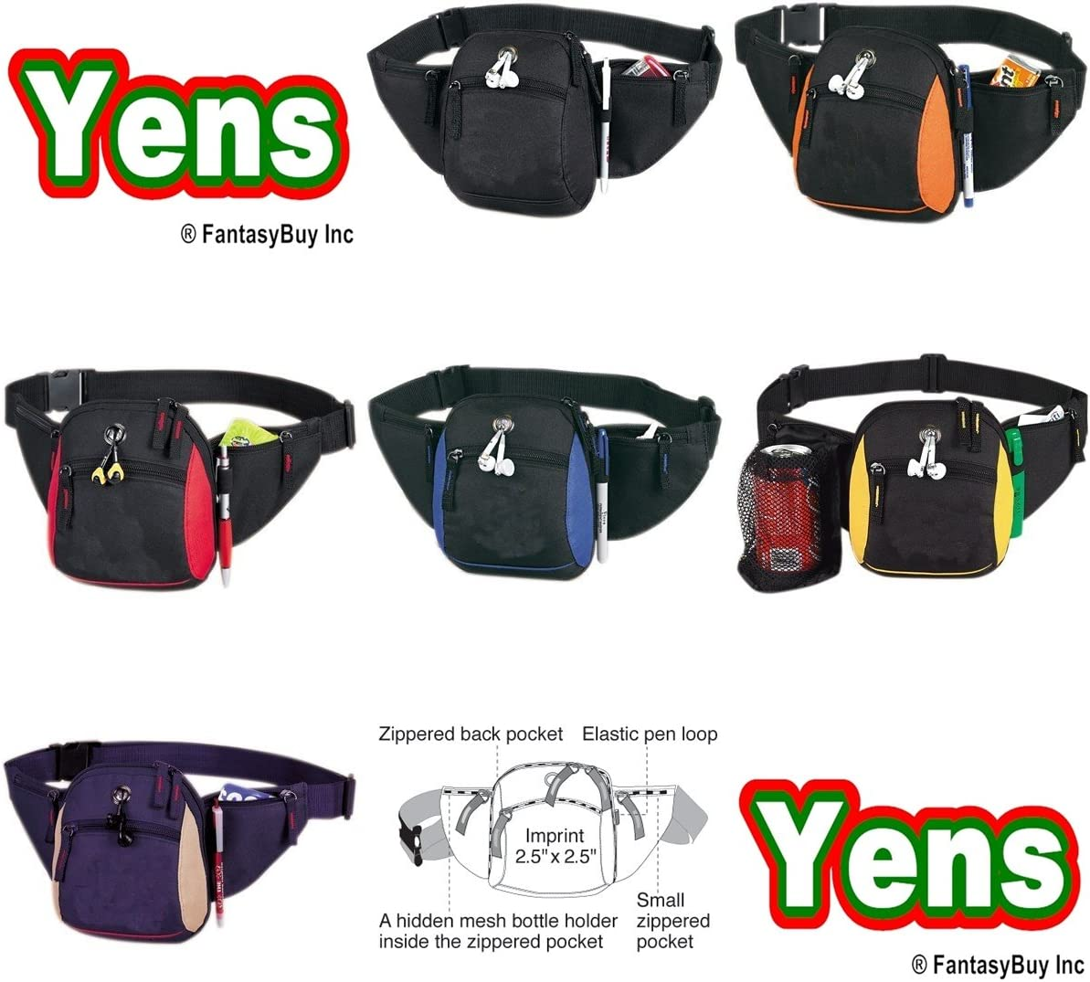 Yens Courier shipping free Fantasybag All-Star Fanny Yellow Ranking TOP18 Pack FN-008
