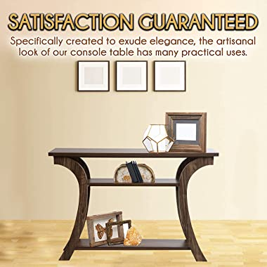 Console Table with Shelves by OMISHOME | Entryway Table with Amish Styling | Easy to Assemble Narrow Sofa Console Design with
