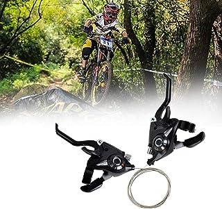2 x fiets-versnellingspook, 3 x 7/3 x 8 versnellingen, met kabel, voor mountainbike, links, remhendel, snelheidshendel, ac...