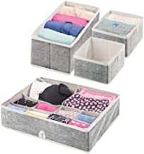 mDesign Soft Fabric Accessory Organizer and Closet Storage Organizer for Bedroom, Closet, Shelves, Drawers - Clothing/Acce...