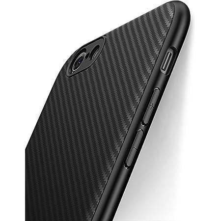 Coque iphone 6, Coque iphone 6s, J Jecent [ Fibre de Carbone] Silicone TPU Souple Bumper Case Cover de Protection Premium Non Slip Surface Housse ...
