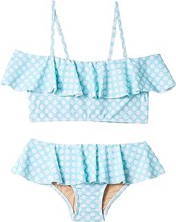 Aqua Dot Fun Ruffle Bikini (Infant/Toddler/Little Kids/Big Kids)